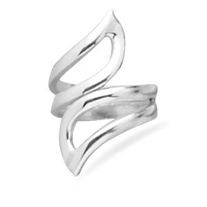 Sterling Silver Polished Double Cut Out Ring / Size 7