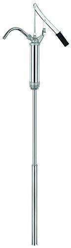 BLUREA-Fasspumpe-mit-Hebel-fr-60l-200l-Metallfsser-verzinkt-u-verchromt-bis-zu-350ml-pro-Hub-Anschlussgewinde-2-und-1--Lnge-460mm-bis-870mm-ausziehbar-starrer-Auslauf
