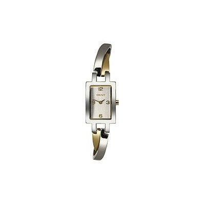 Ladies Two Tone Cuff Bracelet Watch