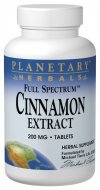 Planetary Formulations - Cinnamon Extract, 60 tablets