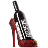 Wild Eye High Heel Bottle Holder, Red Lace