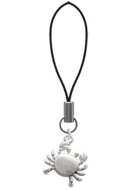 Antiqued Silver Crab Cell Phone Charm