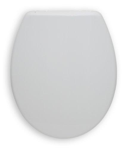 WC-Sitz San Sebastian weiß | Toilettensitz | WC-Brille aus Duroplast-Kunststoff | Mit Active-Clean-Beschichtung | Edelstahl-Scharnier | Take-Off