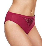 Per Una Floral Embroidered High Leg Knickers