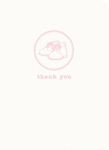C.R. Gibson Thank You Notes, 10 Boxed, Pink Shoes