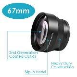 Neewer® 67mm 2.2x 倍率望遠レンズ プロ HD すべての67mmフィルタースレットに付くデジタルカメラに対応 例:CANON EOS Kiss X4 X5 X6i X7i EOS 70D 60D 7D NIKON D53...
