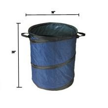 Portable Trash Can 16 X 20 Collapsible Blue Home Kitchen