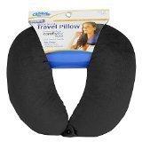 Cloudz Microbead Travel Neck Pillow - Black by Cloudz