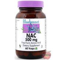 Bluebonnet - NAC 500 Mg - 60 VegCap Kosher,Gluten-Free