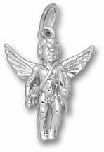 Archery Angel Charm - Sterling Silver Jewelry