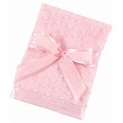 Bearington Baby - Small Dottie Snuggle Blanket (Pink)