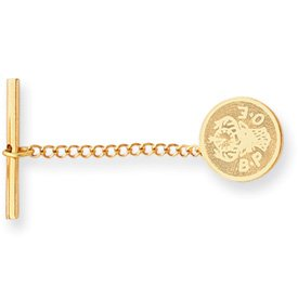 Gold-plated Elks Tie Tack - JewelryWeb