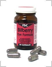FSC Bilberry Eye Formula 30 Tablets