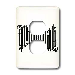 EvaDane – Signs – Illuminati Ambigram. – Light Switch Covers – 2 plug outlet cover