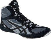 Asics Cael v5.0 Wrestling Shoes Black/Black/Silver - 12