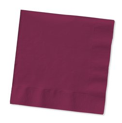 Burgundy Luncheon Napkins