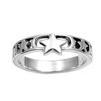 Sterling Silver Baby Ring for Child - Dainty