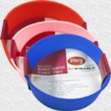 4 X 20cm Silicone Round Cake Mould Available In 3 Colours