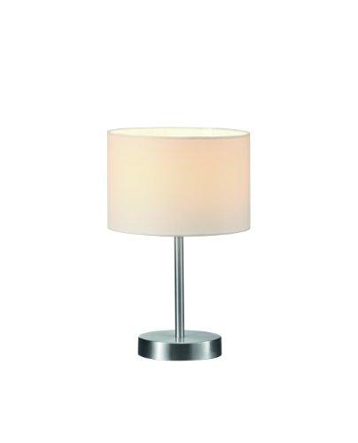 Trio-Leuchten-Tischleuchte-in-Nickel-matt-Stoffschirm-wei-exklusive-1x-E14-maximal-40W--20-cm-Hhe-32-cm-501100101