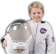 Orange Astronaut Suit Costume - Medium