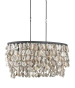 Currey and Company 9492 Stillwater - Five Light Chandelier, Blacksmith/Natural Finish