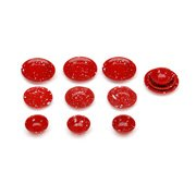Darice Timeless Ministm Miniatures Miniature - Timeless Ministm Red Plates And Bowls As Miniature Kitchen Decor. 3/4 - 7/8 Inch. 12 Pieces Per Package. These Pieces Are A Touch Of Old Classics That Are Perfect To Add To Doll Houses, Shadow Boxes, And Much
