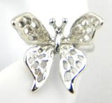 Sterling Silver Butterfly Ear Cuff Left Earring 3 Dimensional