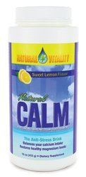 Natural Vitality Natural Calm Diet Supplement, Lemon, 16 Ounce