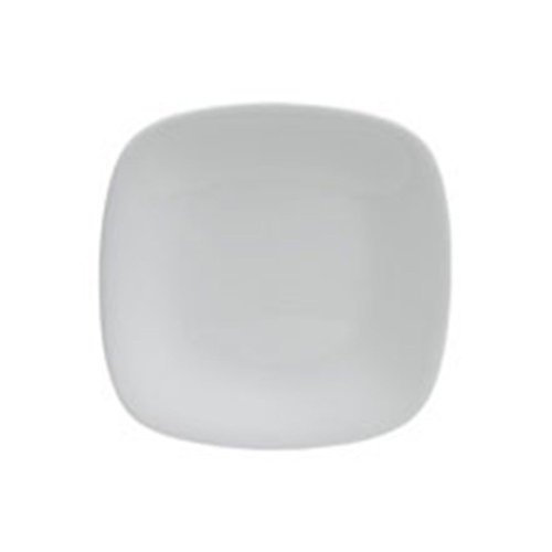 Denby White Squares Dessert/Salad Plate ,Set Of 4