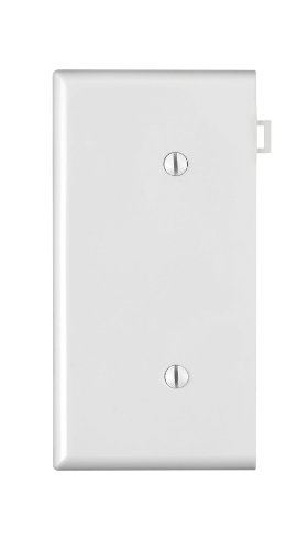 leviton-pse14-w-1-gang-no-device-blank-wallplate-sectional-thermoplastic-nylon-strap-mount-end-panel