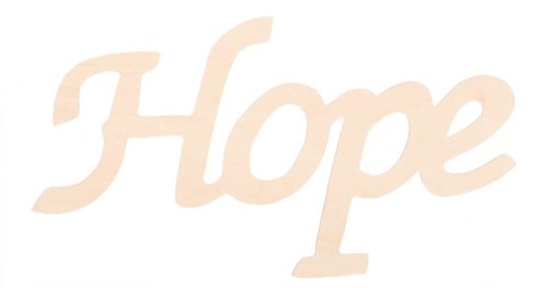 Darice 9110-33 Wood Script Word, Hope