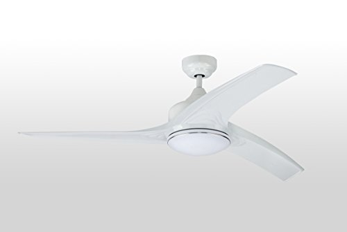 """52"""" Dc Brushless Ceiling Fan With 3 Blades And Single Light Kit"""