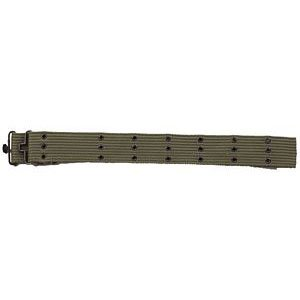 Olive Drab Canvas Pistol Belt (Metal Buckle)
