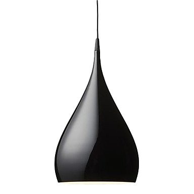 60W Artistic Modern Pendant Light With Spinning-Top Aluminum Shade In Streamline Design front-662005