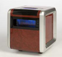 American Comfort R4 1500W 9000BTU Heater Air Purifier Adjustable PTC Ceramic Infrared Woodgrain