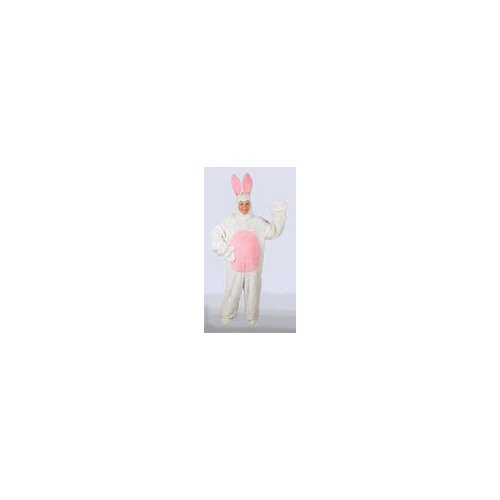 White Easter Bunny Suit with Open Face Child Costume Size 6-8