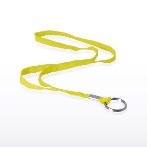 Stock Lanyard - Flat Woven w/ Split Ring - Yellow