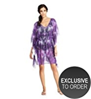 M&S Collection Stud Embellished Palm Print Cover-Up Kaftan