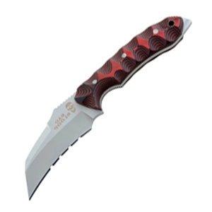Bad Blood Razorhoof Knife, G10 Handle, Plain, Nylon Sheath, Red