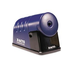 ** Powerhouse Desktop Electric Pencil Sharpener, Translucent Blue **