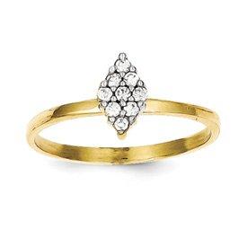 Genuine IceCarats Designer Jewelry Gift 10K Cz Promise Ring Size 6.00