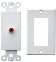 Morris Products 80311 Sound System Plates Single Rca White