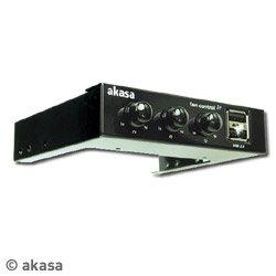 """Akasa AK-FC-06BK fan controller for 3.5"""" bay"""