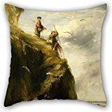 Alphadecor Oil Painting William Collins - Returning From The Haunts Of The Seafowl Pillow Shams 18 X 18 Inches / 45 By 45 Cm Best Choice For Dance Room,girls,home Theater,lover,deck Chair With (Costumes Inc Irish Dance)