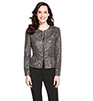 M&S Collection Sequin Zip Jacket
