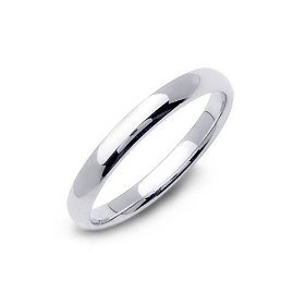 3 mm Polished Finish, CLASSIC STAINLESS STEEL Wedding Band or Promise Ring ~ Sz 5