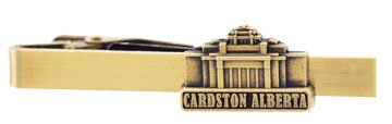 LDS Cardston Alberta Temple Gold Steel Tie Bar - Tie Clip - Priesthood Gift, LDS Missionary, Tie Clip