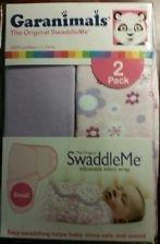 Garanimals The Original SwaddleMe Small 2 Pack Pink Purple Flutter Flowers - 1
