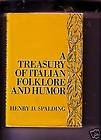 img - for A Treasury of Italian Folklore and Humor book / textbook / text book
