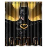 Custom Batman Waterproof Polyester Fabric Bathroom Shower Curtain Standard Size 60(w)x72(h)